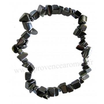 Bracelet en Hématite pierre naturelle bracelet baroque pierres brutes