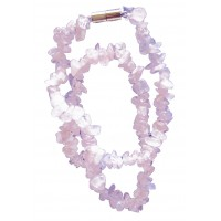 Collier en Quartz Rose pierre naturelle collier baroque pierres brutes