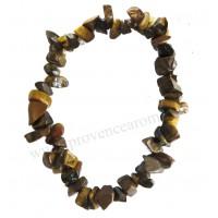 Bracelet en Oeil de tigre pierre naturelle collier baroque pierres brutes