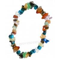 Bracelet en multi-pierres pierre naturelle collier baroque pierres brutes