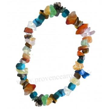 Bracelet en multi-pierres pierre naturelle bracelet baroque pierres brutes