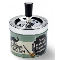 Cendrier poussoir TONTONS FUMEURS Natives déco rétro et vintage