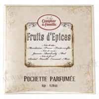 Pochette Parfumée Fruits d'épices Comptoir de Famille
