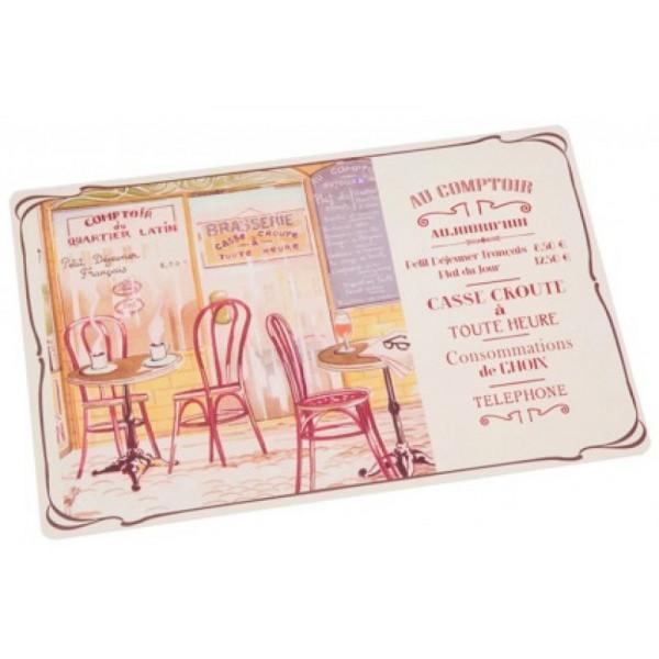 4 sets de table BISTROT DE PARIS Comptoir de Famille - Provence ...