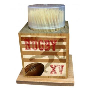 Boîte à Cure dents RUGBY XV L'esprit d'équipe déco rétro vintage