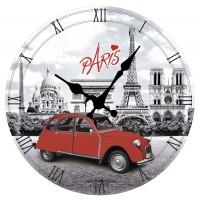 Horloge PARIS 2CV déco rétro vintage