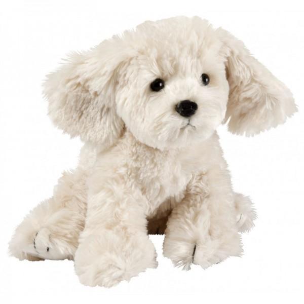 peluche petit chien blanc comptoir de famille provence ar mes tendance sud. Black Bedroom Furniture Sets. Home Design Ideas
