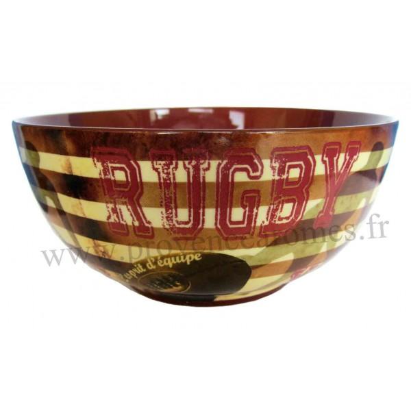 La Couleur Marron En Peinture : Bol RUGBY déco Rugby XV Lesprit déquipe  Provence