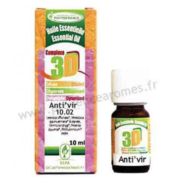 ANTI'VIR HUILES ESSENTIELLES 3D Complexe Antiviral Naturel puissant Phytofrance