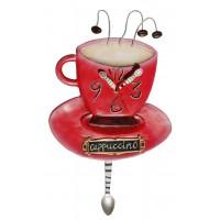Horloge Capuccino Tasse de Café à balancier déco rétro vintage designs