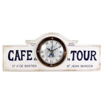 Horloge beige CAFÉ DE LA TOUR PARIS