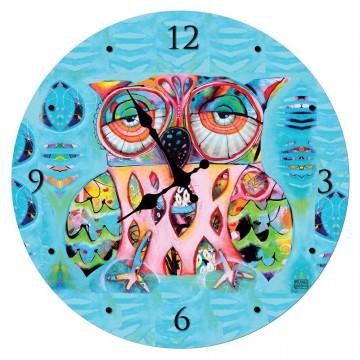Horloge en verre CHOUETTE ALLEN DESIGNS