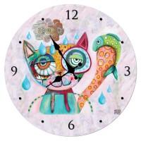 Horloge en verre CHAT ALLEN DESIGNS