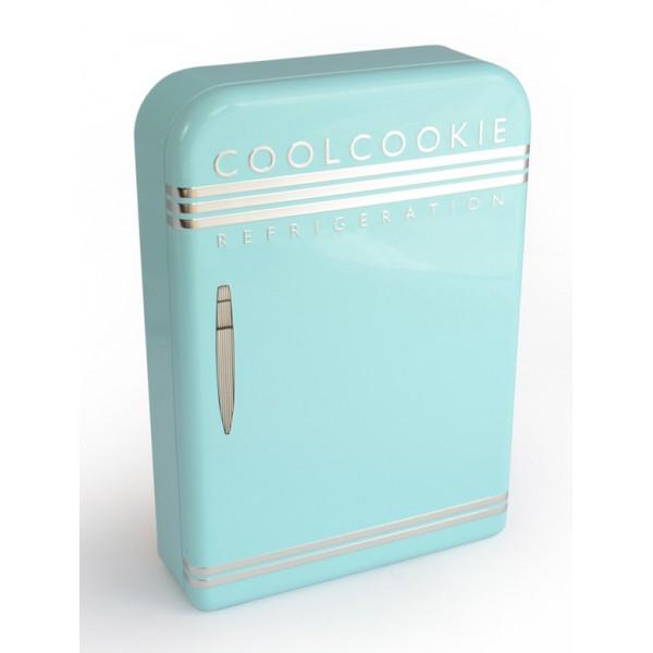 bote en forme de frigo rtro vintage en mtal alimentaire rfrigirateur coolcookie bleu - Frigo Bleu