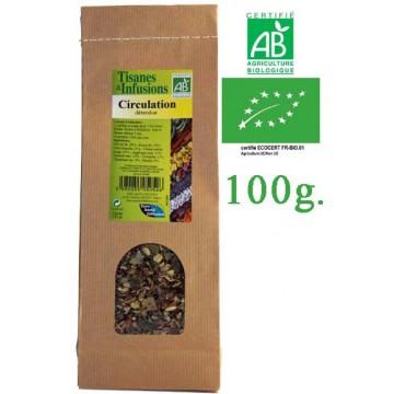 Tisane Circulation Détendue mélange de plantes Bio Phytofrance 100g