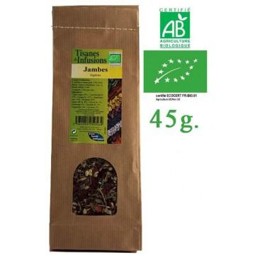 Tisane Jambes Légères mélange de plantes Bio Phytofrance 45g