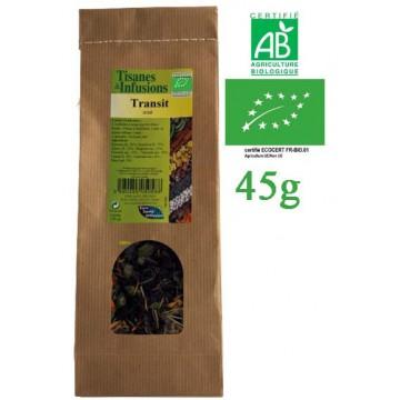 Tisane Transit Aisé mélange de plantes Bio Phytofrance 45g