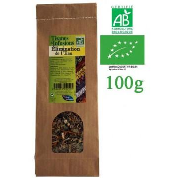 Tisane Élimination eau mélange de plantes Bio Phytofrance 100g
