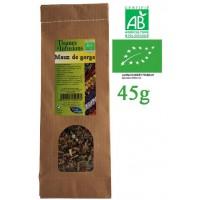 Tisane Maux de gorge mélange de plantes Bio Phytofrance 45g