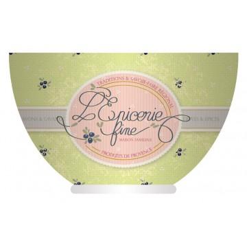Bol ÉPICERIE FINE vert déco rétro de charme Provence