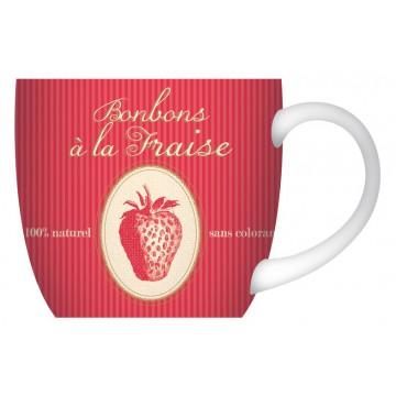 Mug Bonbons à la Fraise déco gourmande collection Bonbons, chocolats et gourmandises