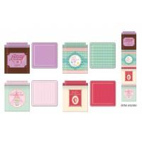 4 boîtes métal empilables gourmandes collection Bonbons, chocolats et gourmandises