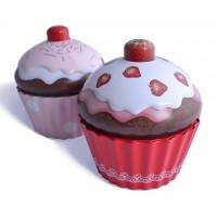 2 Grandes Boîtes en forme de Cupcake en métal alimentaire