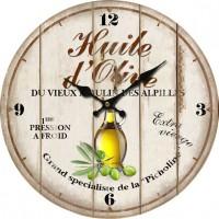 Horloge HUILE D'OLIVE du Vieux moulin des Alpilles déco rétro Provençale