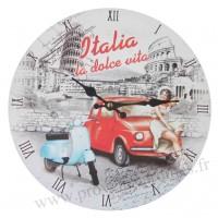 Horloge Italia la dolce vita déco rétro vintage