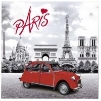 Dessous de plat Paris 2CV (deux chevaux) déco rétro vintage