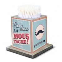Boîte à Cure-dents LA MOUSTACHE Natives déco rétro vintage