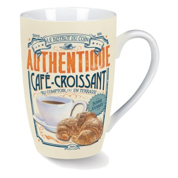 Mug CAFÉ-CROISSANT Natives déco rétro vintage