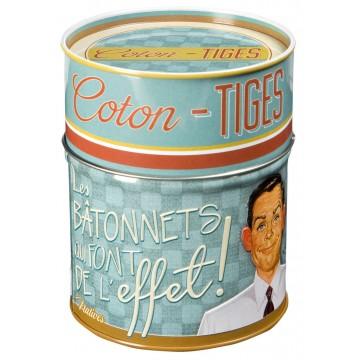Boîte à coton-tiges FAIT DE L'EFFET Natives déco rétro vintage humoristique