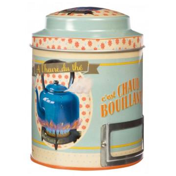 Boîte à thé CHAUD BOUILLANT Natives déco rétro vintage