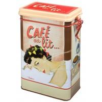 Boîte à café CAFÉ AU LIT Natives déco rétro vintage