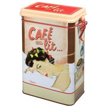 Boîte à café CAFÉ AU LIT Natives déco rétro et vintage