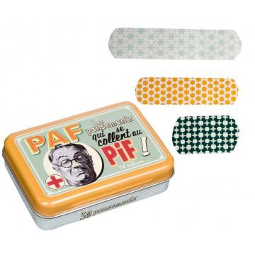 Boîte de pansements PIF PAF Natives déco rétro vintage humoristique