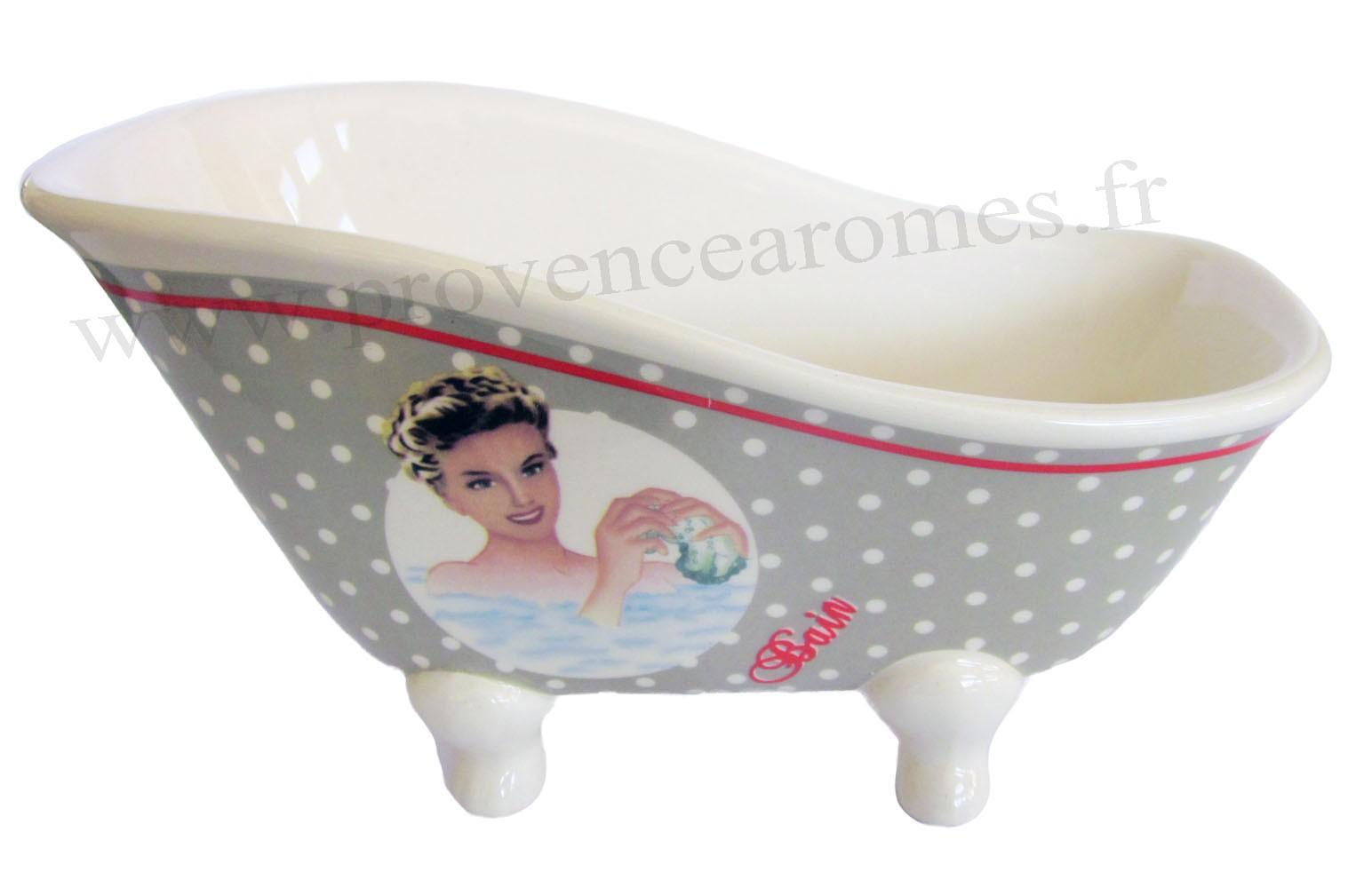 Baignoire Ancienne Sabot Ceramique Le Bain Deco Retro Vintage