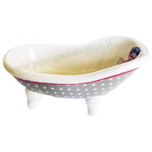porte savon c ramique baignoire ancienne le bain d co. Black Bedroom Furniture Sets. Home Design Ideas