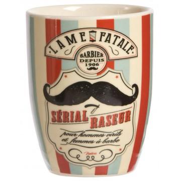 Gobelet céramique BARBIER Natives déco rétro vintage humoristique
