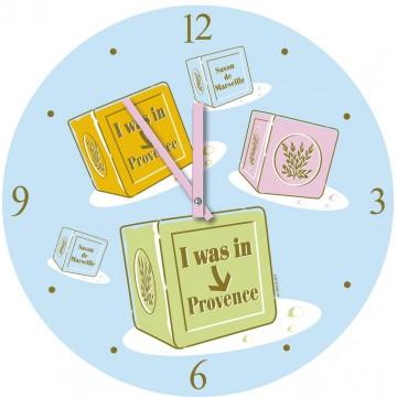 Horloge en verre Savon de Marseille I was in Provence