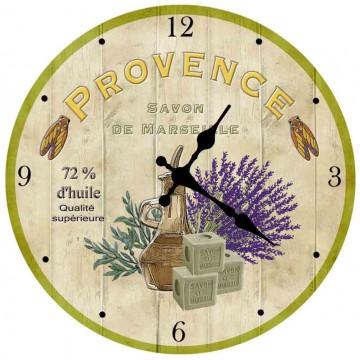 Horloge en verre déco Provençale PROVENCE SAVON DE MARSEILLE