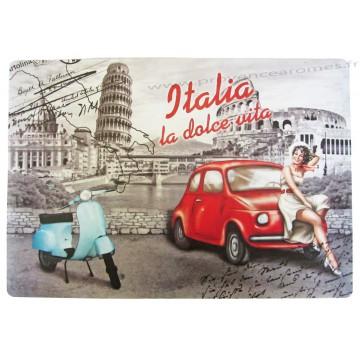 Set de table Vespa La Dolce Vita Italia déco rétro vintage