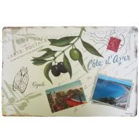 Set de table Carte Postale CÔTE D'AZUR