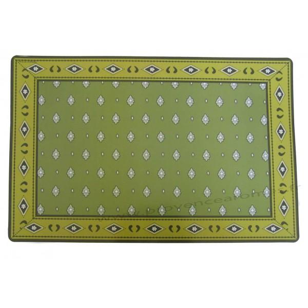 set de table pvc style tissus proven ale authentique mouche vert olive provence ar mes. Black Bedroom Furniture Sets. Home Design Ideas