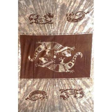 Grande Tenture Gecko Salamandre Tenture à franges 135 x 215 cm