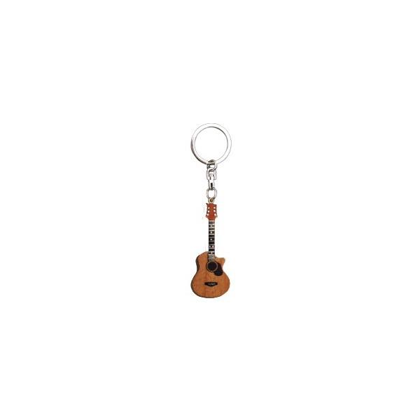 Porte cl s guitare en bois provence ar mes tendance sud for Porte cles en bois