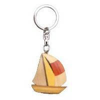 Porte clés Voilier en bois