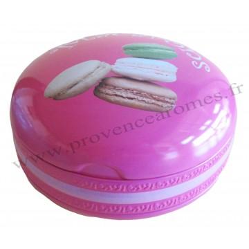 Grande boîte en forme de Macaron en métal alimentaire Rose