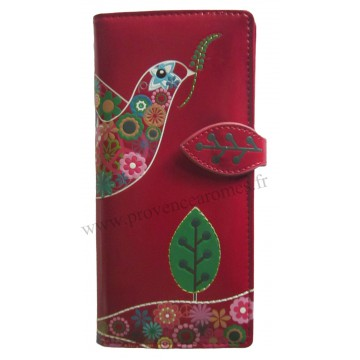 Portefeuille Compagnon COLOMBE rouge